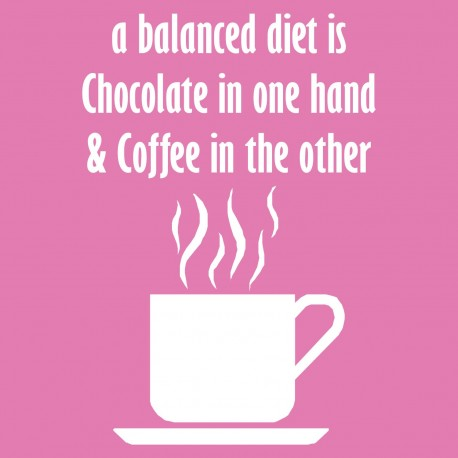 A Balanced Diet is Chocolate & Coffee