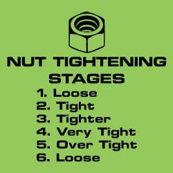 Nut Tightening Stages