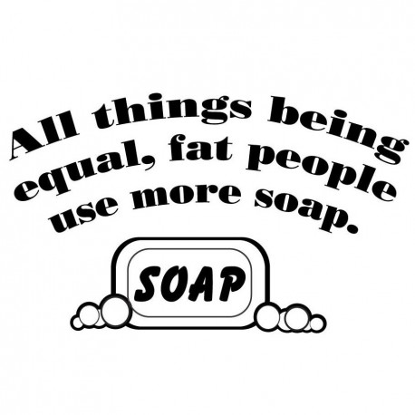 All Things Being Equal Fat People Use More Soap