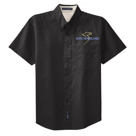 S508 - Port Authority Short Sleeve Easy Care Shirt - Black
