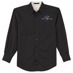 S608 - Port Authority Long Sleeve Easy Care Shirt - Black