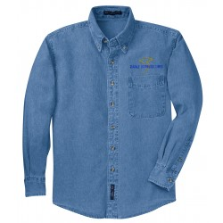 Eagle Express Lines S600 Port Authority Long Sleeve Denim Shirt. S600 - Faded Denim