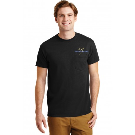 Eagle Express Lines 8300 Gildan Adult Pocket T-shirt - Black