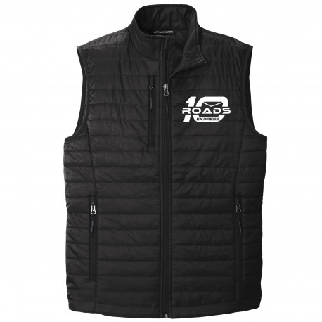 10 Roads Embroidered Puffer Vest