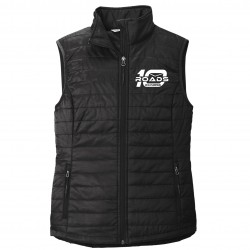 10 Roads Embroidered Ladies Puffer Vest