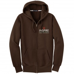 F282 Embroidered Inspire Family Fellowship Zip-Up Sweatshirt