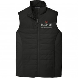 J903 Embroidered Inspire Family Fellowship Puffy Vest