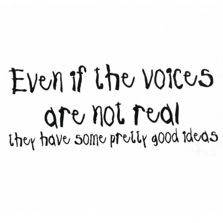 Even If The Voices Are Not Real They Have Some Pretty Good Ideas