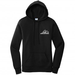 Lone Mountain Embroidered Ladies Pullover Hooded Sweatshirt