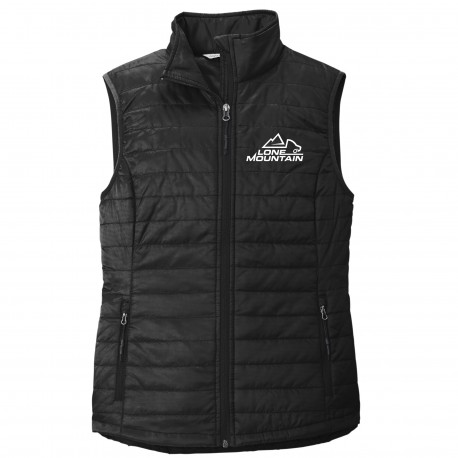 Lone Mountain Embroidered Ladies Puffer Vest