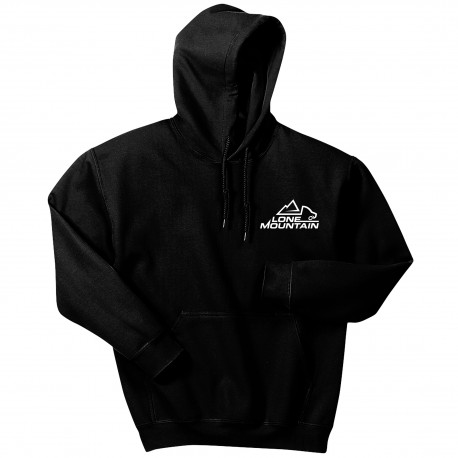 18500 Men's Embroidered Lone Mountain Hooded Sweatshirt