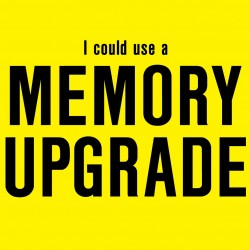 I Could Use A Memory Upgrade