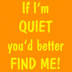If I'm Quiet You'd Better Find Me