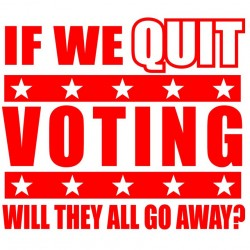 If We Quit Voting Will They All Go Away?