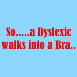 So A Dyslexic Walks Into A Bra