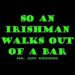 So An Irishman Walks Out Of A Bar Na Just Kidding