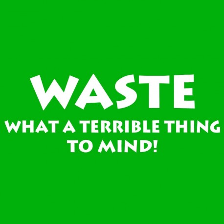 Waste What A Terrible Thing TO Mind