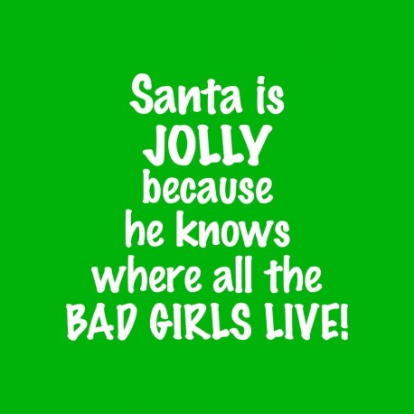 Santa Is Jolly Because He Knows Where All The Bad Girls Live!