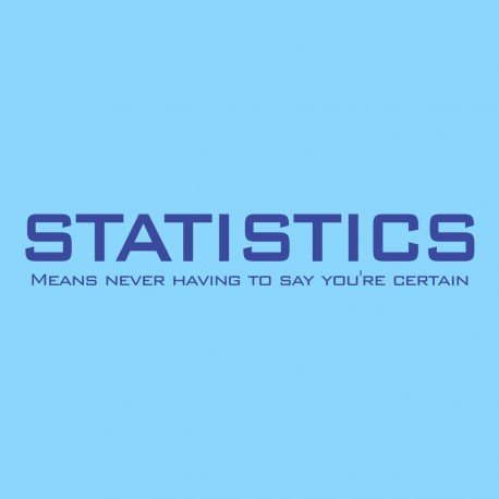 Statistics Means Never Having To Say You're Certain