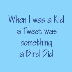 When I Was A Kid A Tweet Was Something A Bird Did