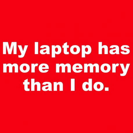 My Laptop Has More Memory Than I Do.