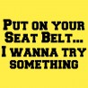 Put On Your Seat Belt ... I Wanna Try Something